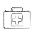 sketch draw medical bag cartoon vector image vector image