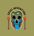 skull design and for tshirt vector image vector image