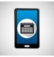 social media mobile calendar planning vector image vector image