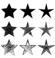 star element set - icon collection vector image
