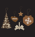 tag merry christmas icons for web design isolated vector image vector image