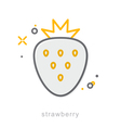 Thin line icons Strawberry vector image vector image