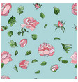 trendy seamless rose pattern in vector image