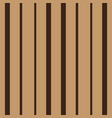 vertical brown stripes seamless print vector image vector image
