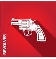 vintage pistol gun icon vector image