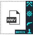 wmv icon flat vector image vector image