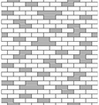 Brick wall seamless pattern White and gray surface vector image