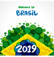 2019 welcome to brazil banner vector image vector image