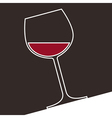 a glass red wine vector image vector image