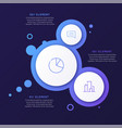 abstract gradient minimalistic infographic vector image vector image