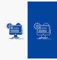 account profile report edit update line and glyph vector image vector image