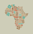 africa continent map tribal art icon isolated