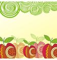 Apples pattern vector image vector image