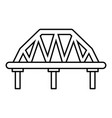 arched train bridge icon outline style vector image vector image