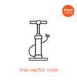 bicycle pump icon on white linear style vector image vector image