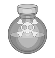Bottle of poison icon black monochrome style vector image vector image