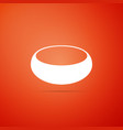 bowl icon isolated on orange background vector image