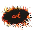 Bright paint spot with splashes and text art vector image