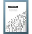 Business Idea - line design brochure poster vector image vector image