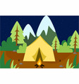 camping into wild background vector image