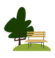 chair in the park vector image vector image