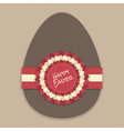 chocolate easter egg vector image vector image