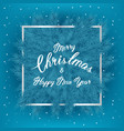 christmas tree branches with slogan and silver vector image