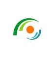 circle dot focus eye logo vector image
