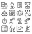 coach and instructor icons set on white background vector image vector image
