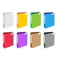 Colorful set of office folder icons vector | Price: 1 Credit (USD $1)