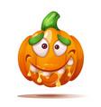 cute funny crazy pumpkin characters halloween vector image vector image