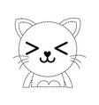 dotted shape happy cat adorable feline animal vector image vector image