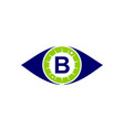 eye care solutions letter b vector image vector image