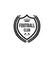 football club badge icon with crown symbol and vector image vector image