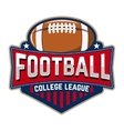 football college league emblem template vector image vector image