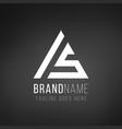 geometrical triangle logo design ls initials vector image vector image