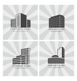 grey real estate construction business logo set vector image vector image