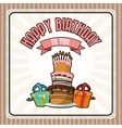 Happy Birthday design cake icon Colorfull vector image vector image