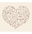 heart of the flower pattern vector image vector image