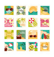 hello summer travel and vacation season banner vector image