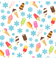 icecream pattern snow vector image vector image
