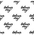 labour day calligraphy text seamless pattern vector image
