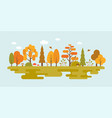 landscape of wild in autumn season vector image vector image