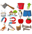 large set different food and other items vector image