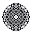 mandala circle ethnic ornament hand drawn vector image vector image