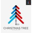 Minimal line design logo Christmas tree icon vector image vector image