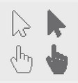 modern arrows and hands cursor icons on vector image