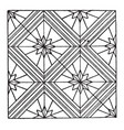 modern square panel is a parquetry design vintage vector image vector image