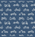 monochrome seamless pattern with motorcycles of vector image vector image