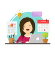 multitasking business woman person working hard vector image